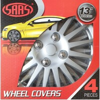 Saas 'Katana' Style Silver Wheel Covers