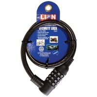 Lion Combination Lock Steel Security Cable