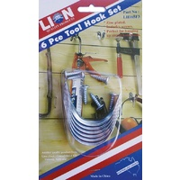 Lion 6 Piece Small Tool Hanger Set