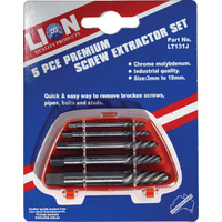 Lion 5 Piece Screw Extractor Set
