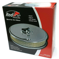 "Redline Chrome Air Filter 9"" Suits DFV DFEV 2bbl Weber & 180 Holley"