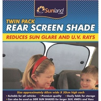 Sunland Twin Pack Rear Window Sun Shades Car Sedan Hatch