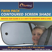 Sunland Twin Pack Contoured Side Window Screen Sun Shades
