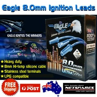 Eagle 8.0mm Heavy Duty Ignition Spark Plug Leads Holden Commodore VN VP VR 6 Cyl