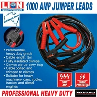 Lion Jumper Leads Heavy Duty 1000 Amps Professional 5m Cable 4, 6, 8 Cyl Petrol/Diesel