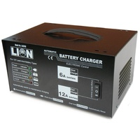 Lion Trade Series Fully Automatic 12 Volt 6 Amp & 12 Amp Battery Charger