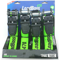 Lion 4 Piece 4.6 Metre Industrial Grade Ratchet Tie Downs