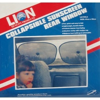 Lion Twin Collapsible Rear Window Sunshade Car Sun Shade