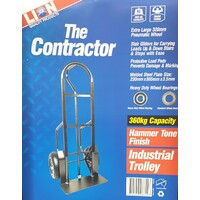 Contractor Industrial Hand Trolley 360 kg Capacity Pneumatic Tyres Stair Gliders
