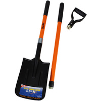 Lion 3 Piece Combination Shovel Fibreglass D & L Handle Off Road 4WD Recovery Spade