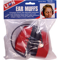 Lion Premium Quality Ear Muffs Adjustable Noise Protection Home Worksite Garage