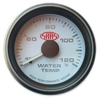 SAAS 52mm White Face Water Temperature Gauge