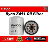 Ryco Z411 Oil Filter Suits Ford Kia Mazda Mitsubishi