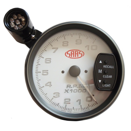 SAAS 5 Inch Monster Tachometer Performance Tacho With LED Shift Light